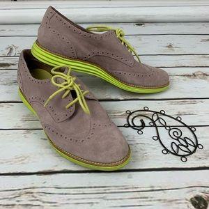 Cole Haan Lunargrand Shoes Suede Suede Oxford